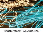 lighting effect  green and... | Shutterstock . vector #689006626