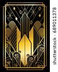 art deco city gold   Shutterstock .eps vector #689011378