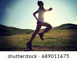 young fitness woman runner... | Shutterstock . vector #689011675