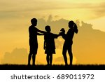 happy family with relaxing...   Shutterstock . vector #689011972