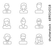 people line icons vector...   Shutterstock .eps vector #689014318