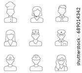 people line icons vector... | Shutterstock .eps vector #689014342