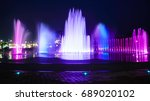 blurred fountain show with... | Shutterstock . vector #689020102