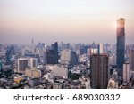 bangkok view with skyscraper in ... | Shutterstock . vector #689030332