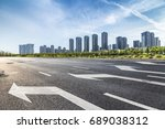panoramic skyline and buildings ... | Shutterstock . vector #689038312