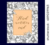 romantic invitation. wedding ...   Shutterstock .eps vector #689039965