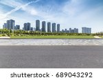 panoramic skyline and buildings ... | Shutterstock . vector #689043292