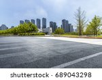 panoramic skyline and buildings ... | Shutterstock . vector #689043298