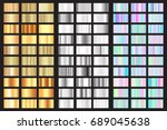 vector gold  silver and... | Shutterstock .eps vector #689045638
