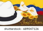 banner with traditional arriero ... | Shutterstock .eps vector #689047126