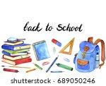 background with school... | Shutterstock . vector #689050246