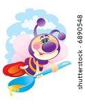 hardworking bee | Shutterstock .eps vector #6890548