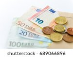 euro money. banknotes and coins ... | Shutterstock . vector #689066896