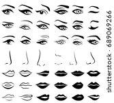 big set of various human eyes ...   Shutterstock .eps vector #689069266