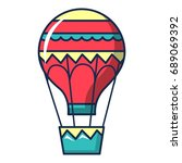 hot air balloon icon. cartoon... | Shutterstock .eps vector #689069392