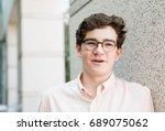 portrait of typical american...   Shutterstock . vector #689075062