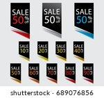 sale 10  20  30  40  50  60  70 ... | Shutterstock .eps vector #689076856