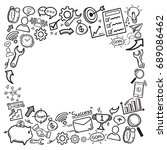 doodle icon hand draw is a... | Shutterstock .eps vector #689086462