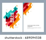 nice and beautiful flyer or... | Shutterstock .eps vector #689094538