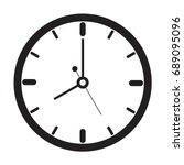 clock icon  outline  isolated...   Shutterstock .eps vector #689095096