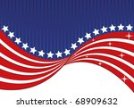 abstract american flag | Shutterstock .eps vector #68909632