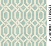 seamless moroccan pattern in... | Shutterstock .eps vector #689100286