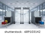 3d rendering airport security... | Shutterstock . vector #689103142