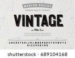 font. alphabet. script.... | Shutterstock .eps vector #689104168
