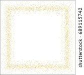 square golden sand frame or... | Shutterstock .eps vector #689115742