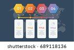 infographic element vector with ... | Shutterstock .eps vector #689118136