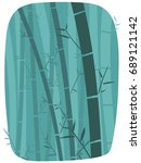 vector illustration of bamboo...   Shutterstock .eps vector #689121142