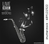 vector banner for the concert...   Shutterstock .eps vector #689122522