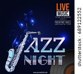 vector banner for the concert... | Shutterstock .eps vector #689122552
