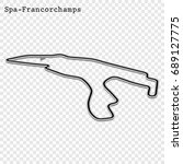 belgian grand prix race track.... | Shutterstock .eps vector #689127775