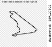 mexican grand prix race track.... | Shutterstock .eps vector #689127802