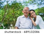portrait of happy senior man... | Shutterstock . vector #689132086