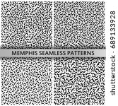 black and white memphis... | Shutterstock .eps vector #689133928