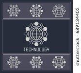 technology card template.... | Shutterstock .eps vector #689134402