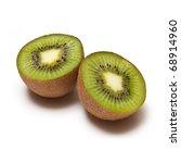 Kiwi Fruit isolated on a white studio background. - stock photo