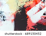 painted abstract background | Shutterstock . vector #689150452
