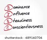 disc  dominance  influence ... | Shutterstock .eps vector #689160706