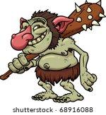 cartoon troll holding a club....