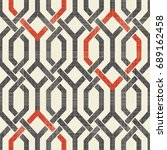 seamless moroccan pattern in... | Shutterstock .eps vector #689162458