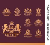 luxury boutique royal crest... | Shutterstock .eps vector #689166982