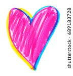 Big Bright Neon Pink  Blue And...