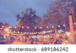 vintage tone blur image of... | Shutterstock . vector #689186242