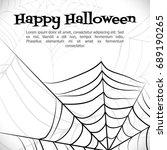 spider's web. black and white...   Shutterstock .eps vector #689190265