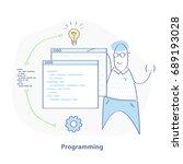 programming  coding... | Shutterstock .eps vector #689193028