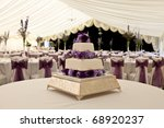 wide angle view of a wedding...   Shutterstock . vector #68920237