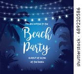 beach party vector illustration ... | Shutterstock .eps vector #689220586